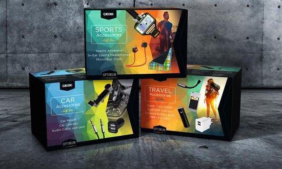Optimum sport pakket. Sport Armband, In-Ear sport Bluetooth headphone, Microfibes cloth