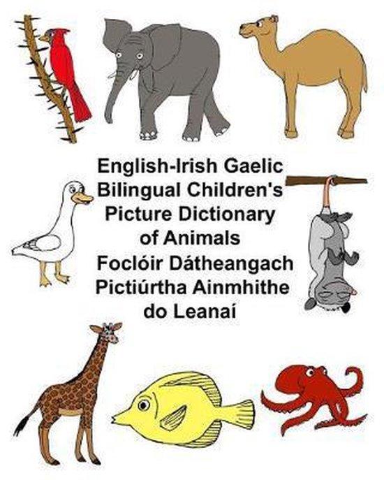 English-Irish Gaelic Bilingual Children's Picture Dictionary of Animals Focloir Datheangach Pictiurtha Ainmhithe Do Leanai
