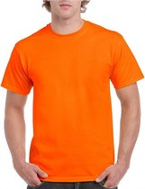 Fel oranje shirt voor volwassenen M