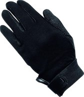 Knit-Cotton Gloves Picot black 10-12 years