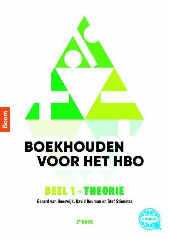 Boek cover Boekhouden voor het hbo deel 1. Theorieboek van Gerard van Heeswijk