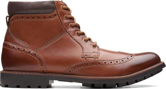 Clarks - Herenschoenen - Curington Rise - G - tan leather - maat 9,5