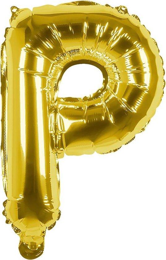 Boland Folieballon Letter P 36 Cm Goud