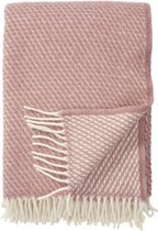 Plaid-Wol-Klippan-Velvet - Deken - Woon accessoire - wollendeken -Roze
