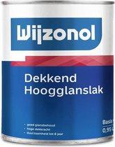 Wijzonol Dekkend Hoogglans, Wit - 1 liter