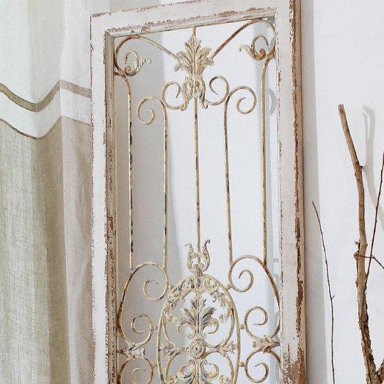 LOBERON Decoratie paneel Versailles antiekwit - Loberon
