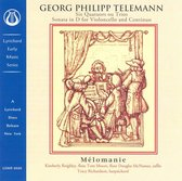 Telemann: Quatuors ou Trios; Sonata In D For Cello & Continuo
