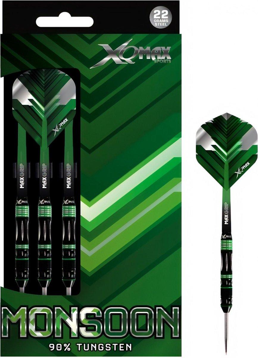 XQ Max - Monsoon - darts - 22 gram - dartpijlen - 90% tungsten - steeltip