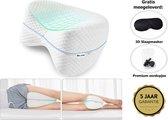 Dapoda® Orthopedisch Kniekussen voor in bed – Zijslaap kussen - Beenkussen – Zwangerschapskussen - Traagschuim