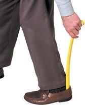 Schoenlepel kunststof met haak - Geel | Lengte 41cm | Able2