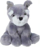 Tender Toys Knuffelhond 14 Cm Grijs