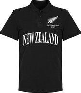 Nieuw Zeeland All Blacks Rugby Polo - Zwart - XL
