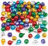 Kleine metallic bellen - creatieve hobbymateriaal voor kinderen om te versieren decoraties en kerstkarten (120 stuks)