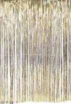 Deurgordijn slinger goud 100 x 200 cm - Oud en nieuw/glitter party decoratie deur slinger