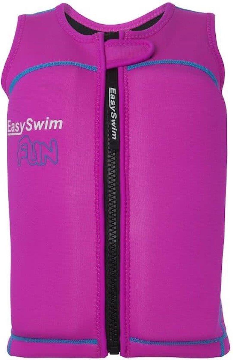 EasySwim Fun - Zwemvest/Drijfvest kind - Roze - Maat L: 24-28 kg