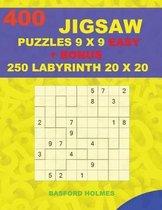 400 JIGSAW puzzles 9 x 9 EASY + BONUS 250 LABYRINTH 20 x 20