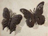 Tuin vlinder wandhanger 2 stuks