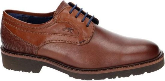Fluchos -Heren -  cognac/caramel - geklede lage schoenen - maat 41
