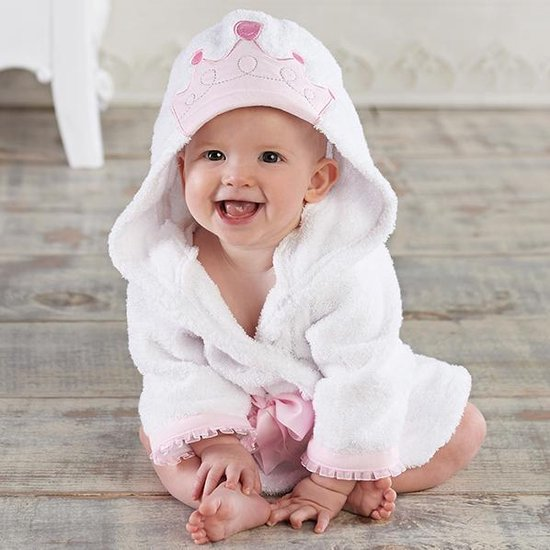 PimPom Badjas Prinses - Met capuchon - 0-12 maanden - PimPom