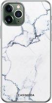 iPhone 11 Pro Max siliconen hoesje - Marmer grijs