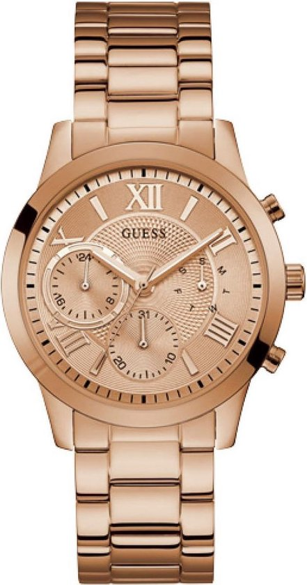 GUESS Watches - W1070L3 - horloge - Vrouwen - RVS - Roségoudkleurig - 40 mm