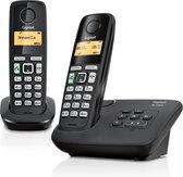 Gigaset AL220A - Duo DECT telefoon - met antwoordapparaat - Zwart