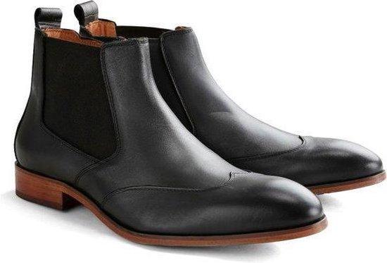 DEN BROECK Front St. - Leren chelsea boots - Zwart