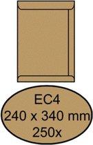 Envelop quantore akte ec4 240 x 340 100 gr bruinkraft