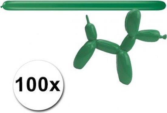Groene modelleer ballonnen 100 stuks