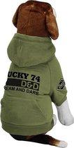 D&D Kleding Dog Jas Lucky Groen S 26X40X21 Cm