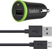 Belkin autolader met Micro-USB kabel 1,2m - 2.4 A - zwart