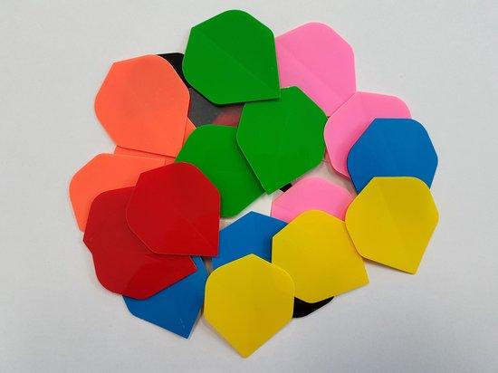 10 sets (30 stuks) Multicolor Poly flights - dartflights