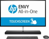HP ENVY 27-b256ng 68,6 cm (27'') 3840 x 2160 Pixels Touchscreen Intel® 8de generatie Core™ i5 16 GB DDR4-SDRAM 1256 GB HDD+SSD NVIDIA® GeForce® GTX 1050 Zwart, Zilver Alles-in-één-pc Windows 10 Home
