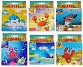 6 kleine puzzels van 25 stukjes
