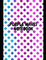 Purple Waves Notebook