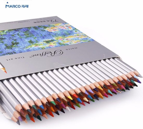 Marco Raffine Fine Art 72 kleurpotloden / Schets Kleur Potloden Olie basis