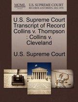 U.S. Supreme Court Transcript of Record Collins V. Thompson