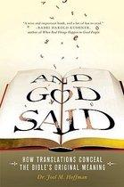 Boek cover And God Said van Joel M. Hoffman