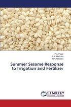 Summer Sesame Response to Irrigation and Fertilizer
