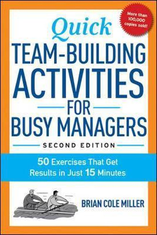 Boek cover Quick Team-Building Activities for Busy Managers van Brian Miller (Paperback)