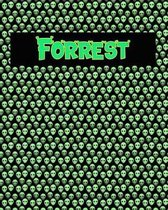 120 Page Handwriting Practice Book with Green Alien Cover Forrest