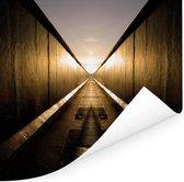Gespiegelde Berlijnse Muur Poster 50x50 cm - Foto print op Poster (wanddecoratie woonkamer / slaapkamer) / Europese steden Poster