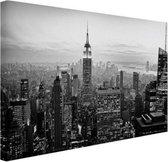 New York City zwart-wit  Canvas 120x80 cm - Foto print op Canvas schilderij (Wanddecoratie woonkamer / slaapkamer)