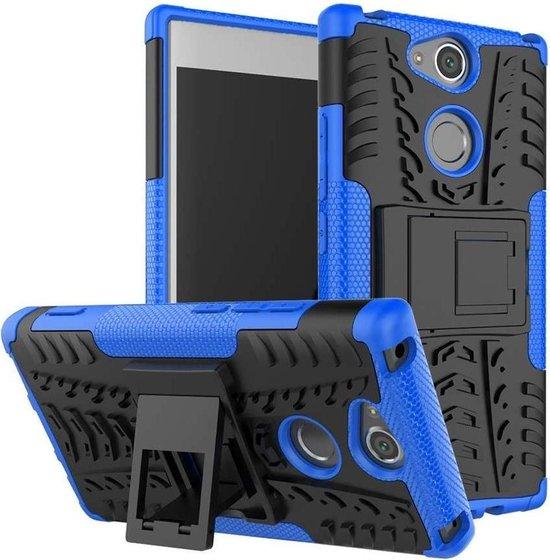 Sony Xperia XA2 Rugged Hybrid Case - Blauw