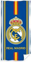 Real Madrid Strandlaken Logo Blauw 70 X 140 Cm