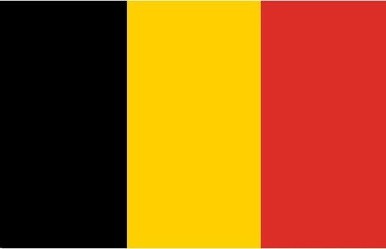 Belgische vlag van 90x150 cm