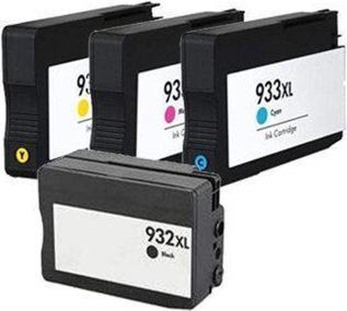Merkloos huismerk geschikt voor de HP 932 / 933 multipack zwart/kleur 4 cartridges (compatible) - ActiveJet