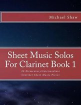 Sheet Music Solos For Clarinet Book 1