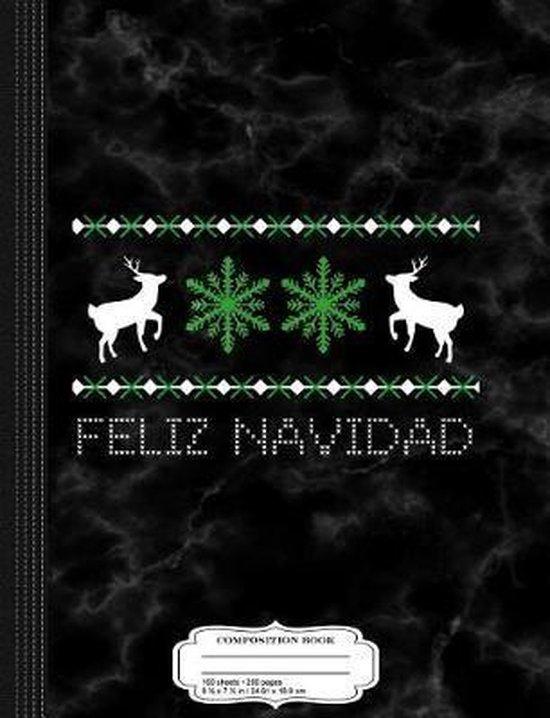 Feliz Navidad Composition Notebook