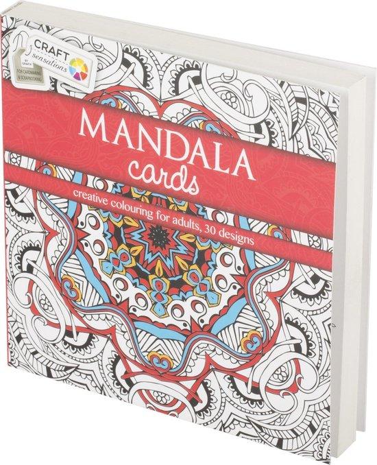 Afbeelding van Craft Kleurboek Sensations Mandala Cards Rood